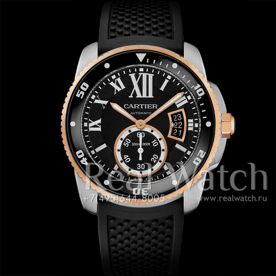 Calibre de Cartier Diver Pink Gold And Steel W7100055 (Арт. RW-9531)